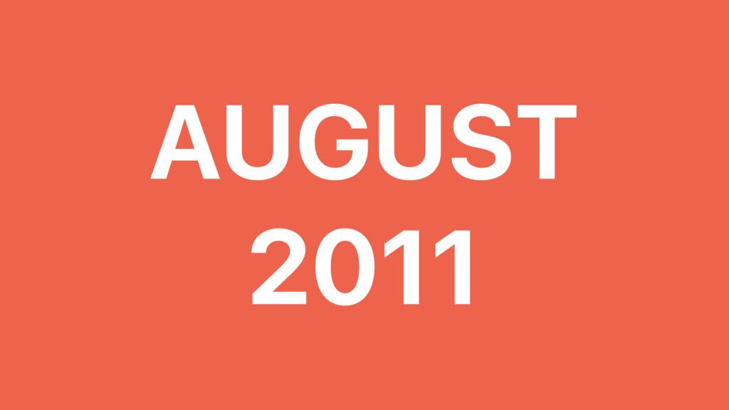 AUGUST 2011 ELOY DURÁN @ALLOY