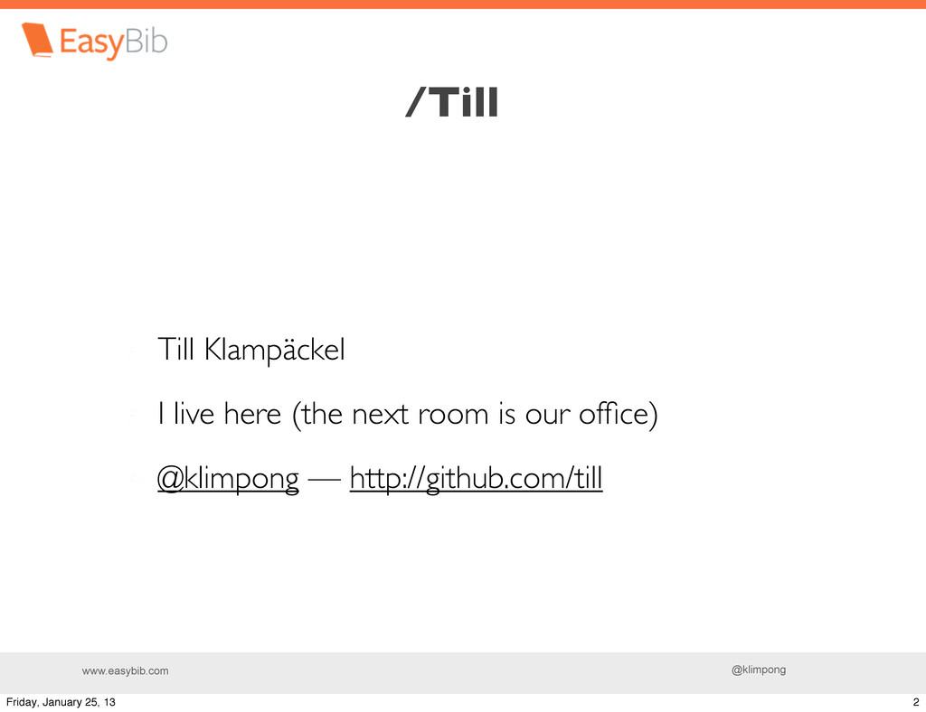 www.easybib.com @klimpong Till Klampäckel I liv...