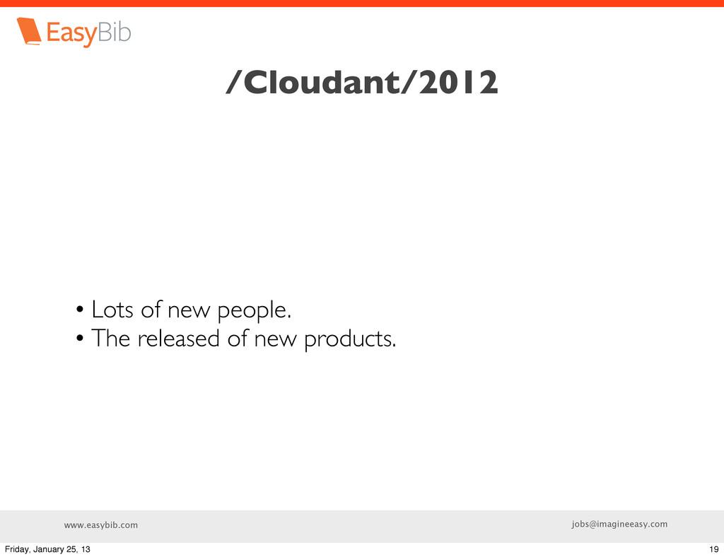 www.easybib.com jobs@imagineeasy.com /Cloudant/...