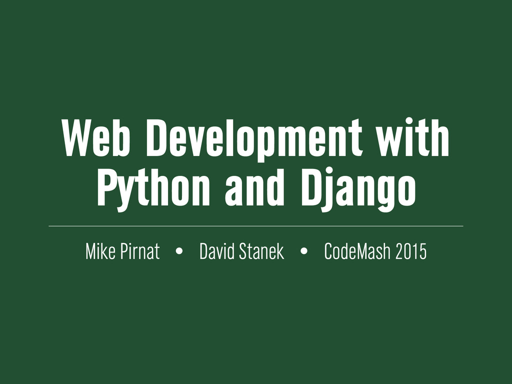 Web Development with Python and Django Mike Pir...
