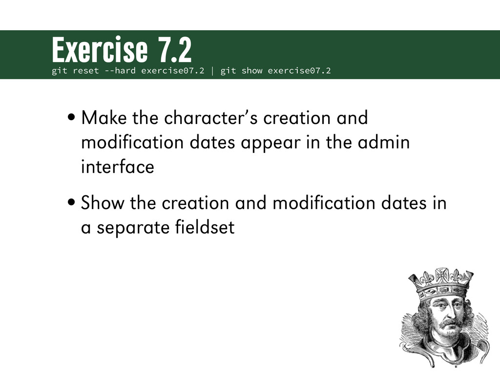 git reset --hard exercise07.2 | git show exerci...