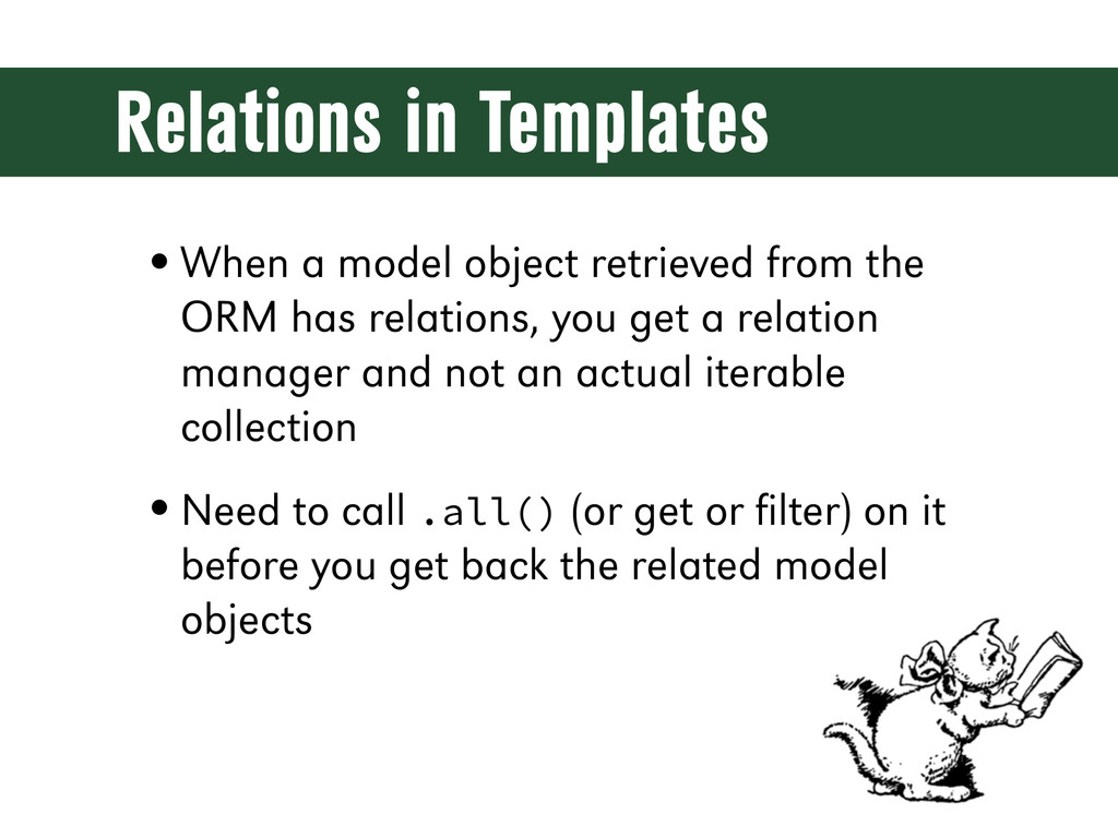 Relations in Templates •When a model object ret...