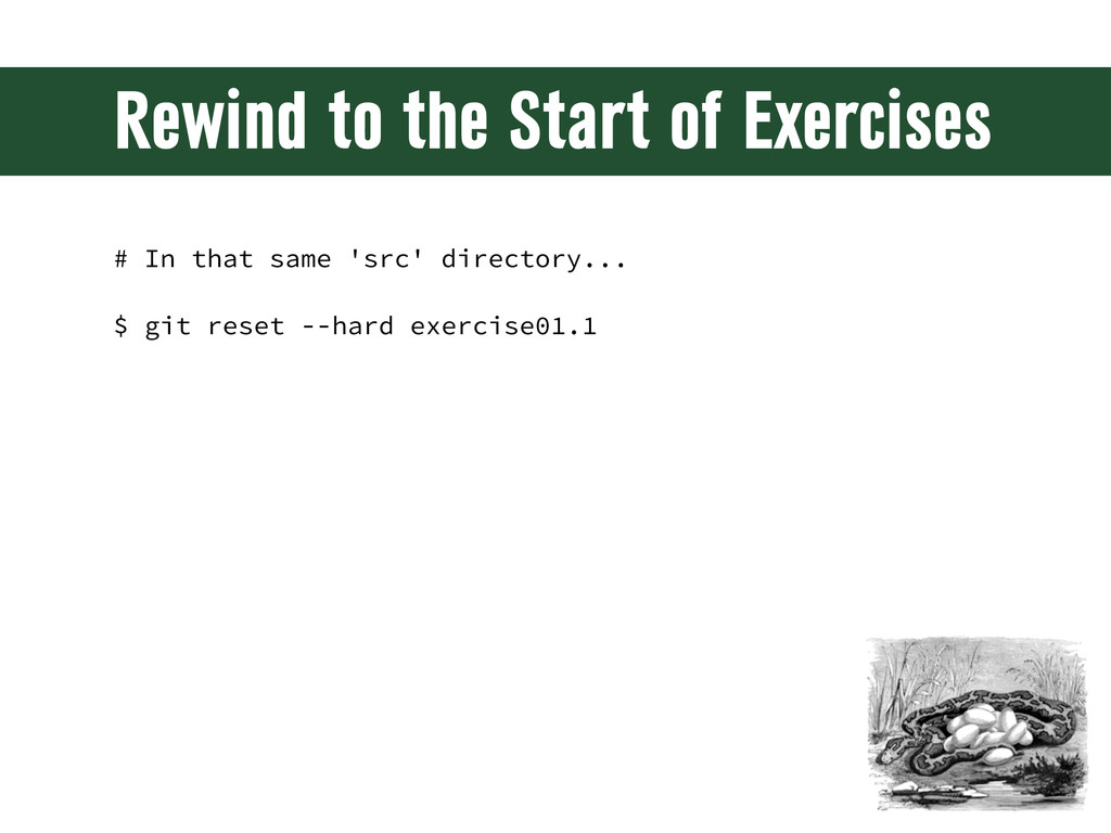 Rewind to the Start of Exercises # In that same...