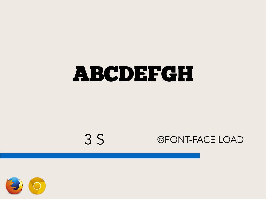3 S @FONT-FACE LOAD ABCDEFGH ABCDEFGH