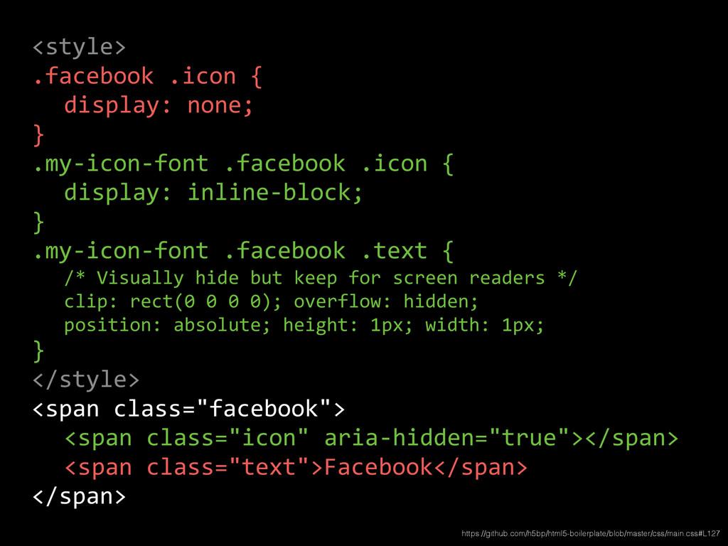 <style>  .facebook .icon {    di...