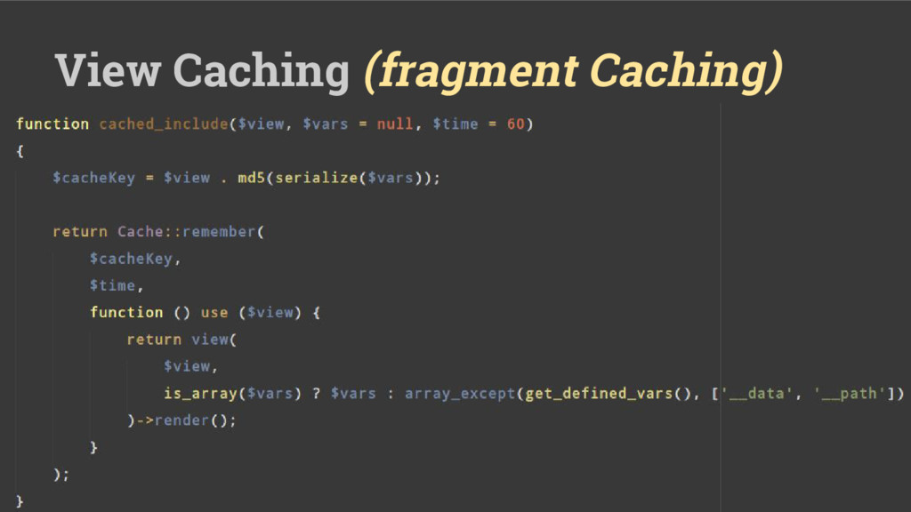 View Caching (fragment Caching)