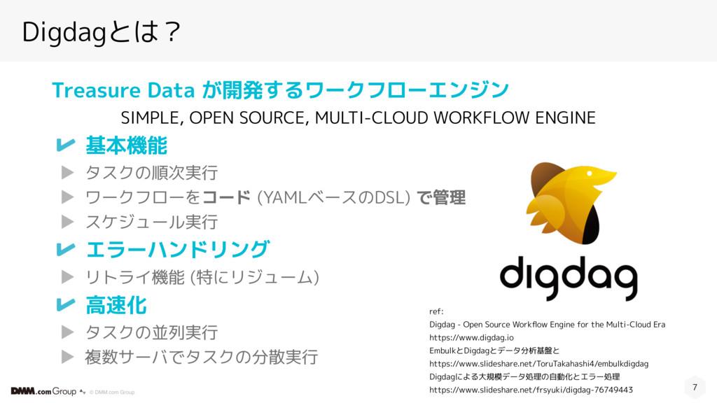 © DMM.com Group Digdagとは? 7 ref: Digdag - Open ...