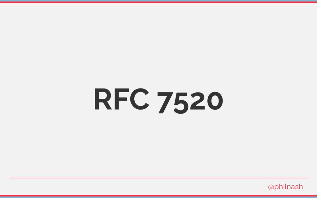 RFC 7520 @philnash