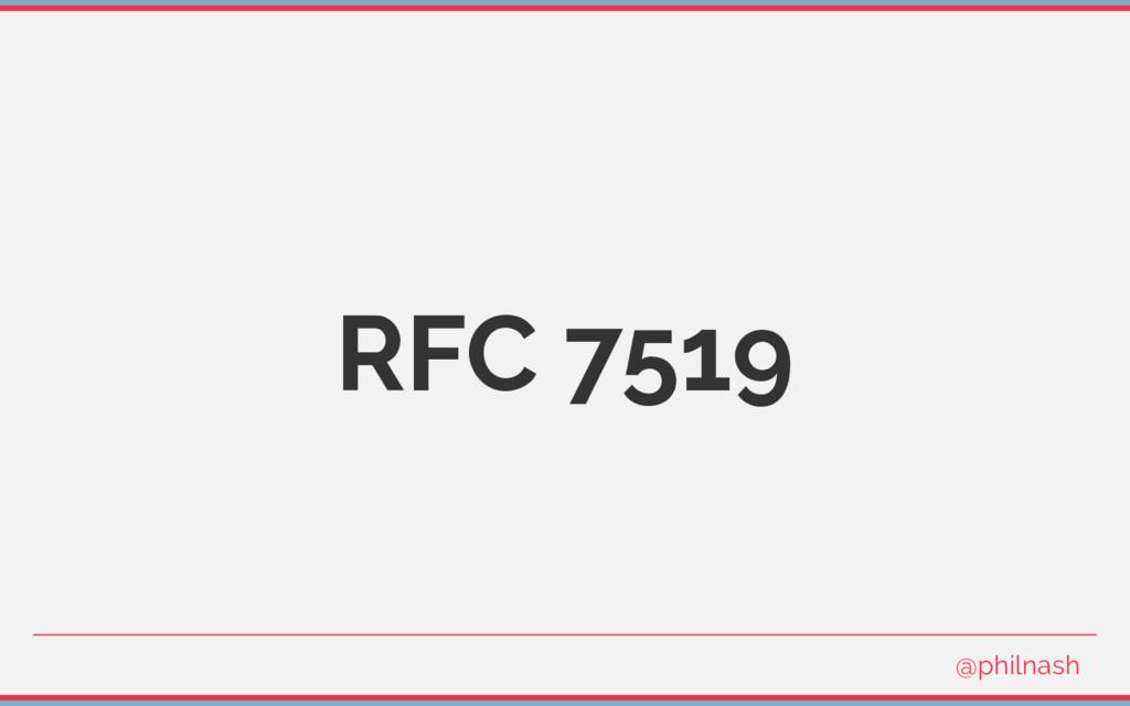 RFC 7519 @philnash