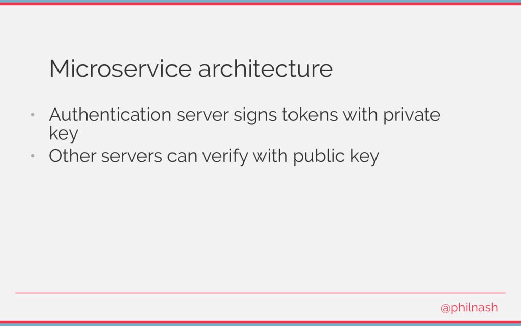 Microservice architecture • Authentication serv...
