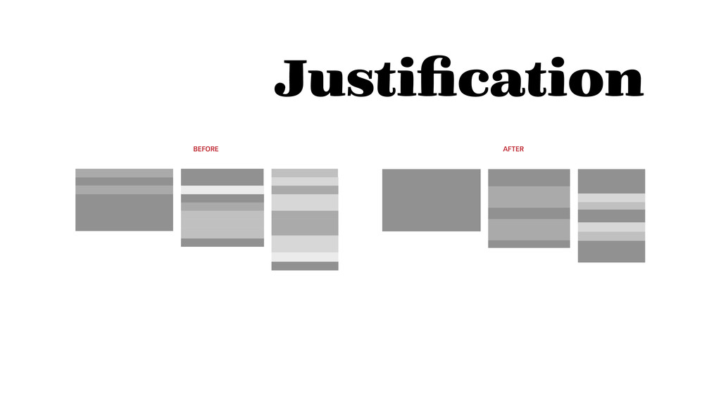 BEFORE AFTER Justification