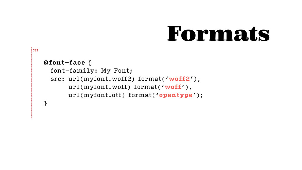 @font-face { font-family: My Font; src: url(myf...
