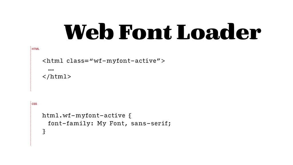 "Web Font Loader <html class=""wf-myfont-active"">..."