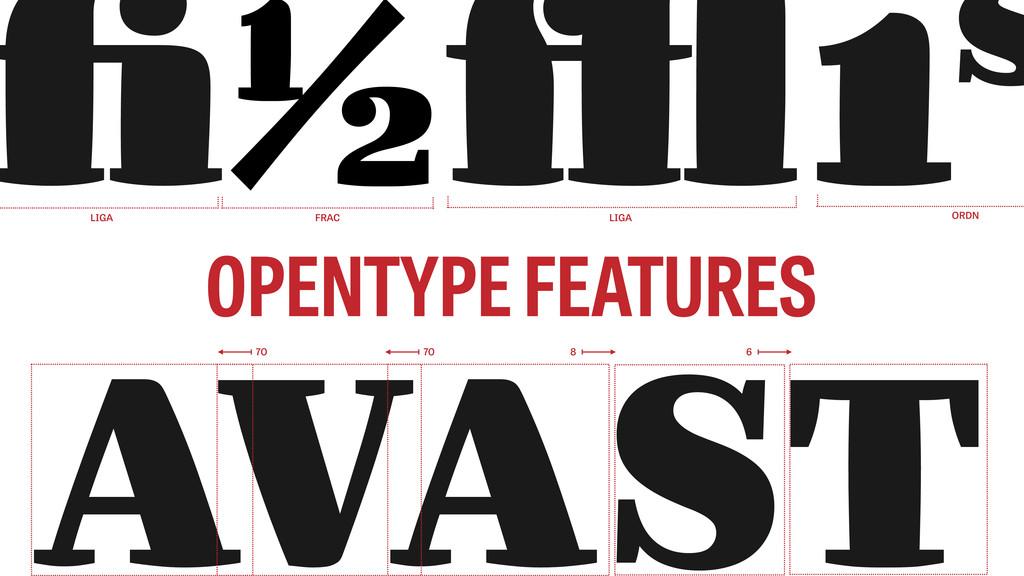AVAST OPENTYPE FEATURES fi1⁄2ffl1s 70 70 8 6 FR...