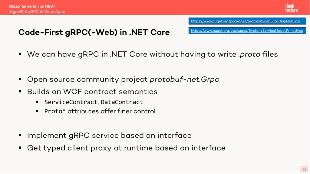 11 § We can have gRPC in .NET Core without havi...