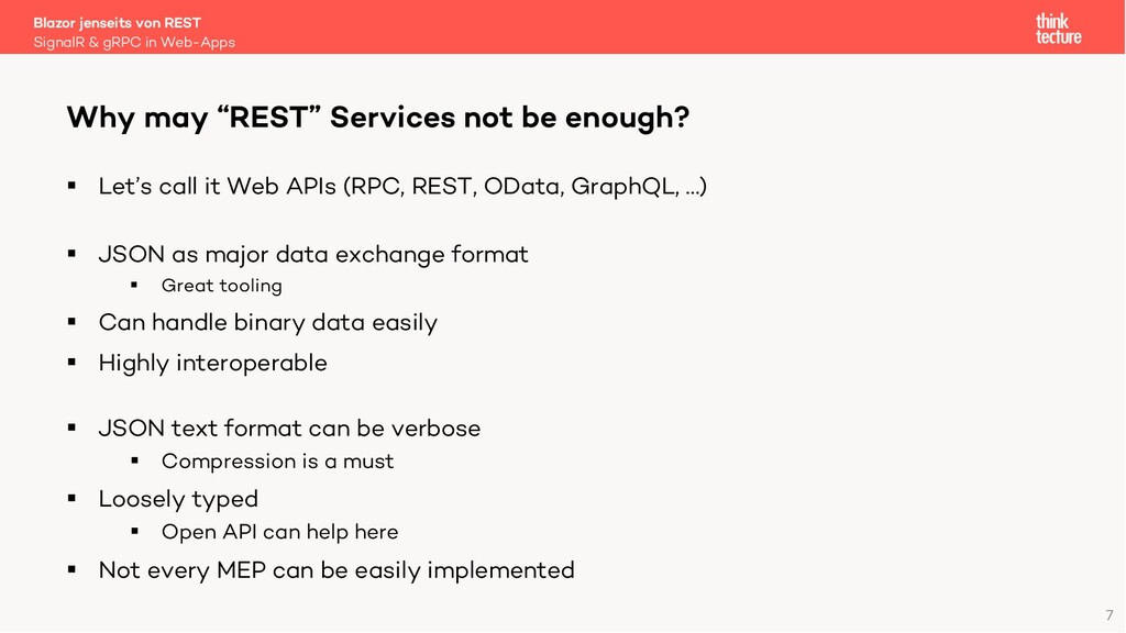 7 § Let's call it Web APIs (RPC, REST, OData, G...