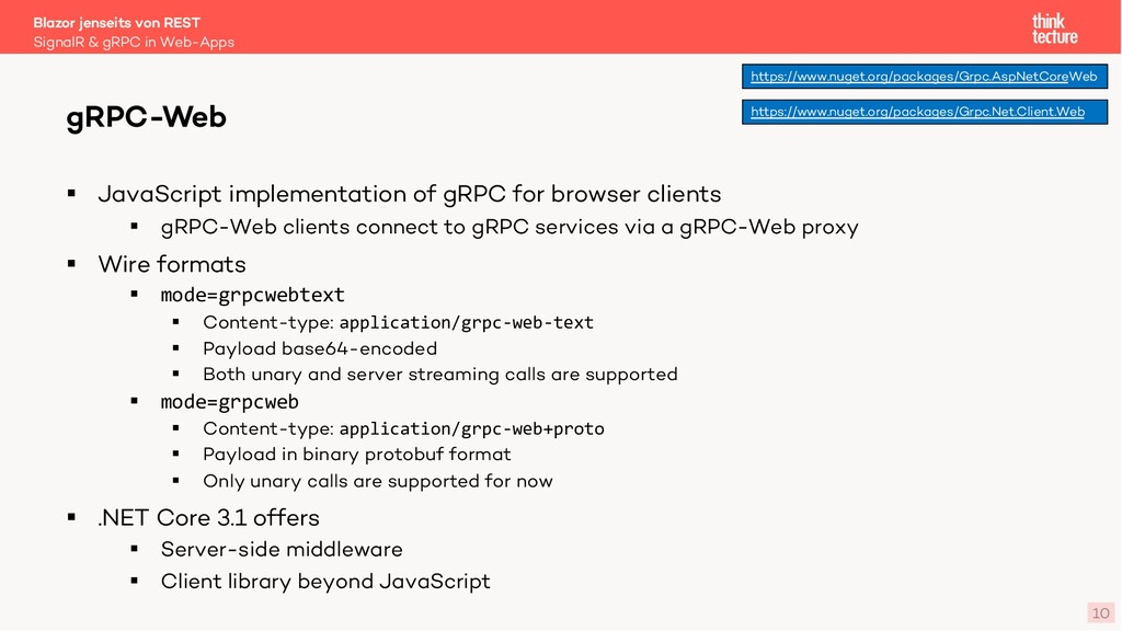 10 § JavaScript implementation of gRPC for brow...