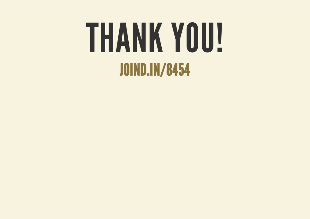 THANK YOU! JOIND.IN/8454
