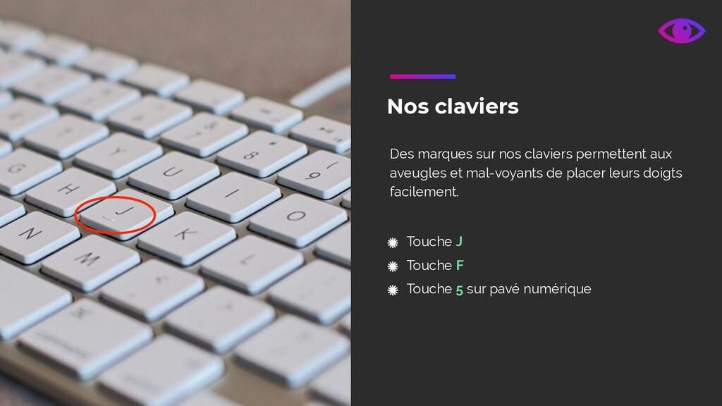 Nos claviers Touche J Touche F Touche 5 sur pav...