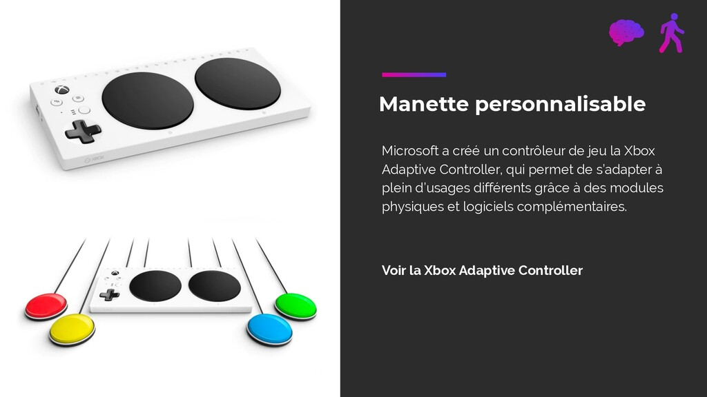 Manette personnalisable Microsoft a créé un con...