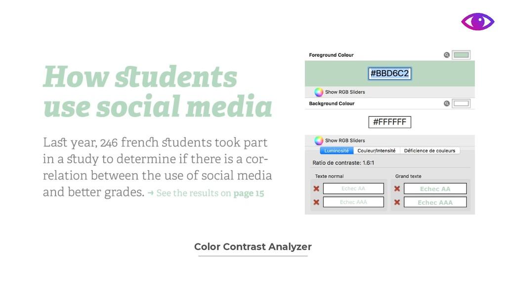 Color Contrast Analyzer