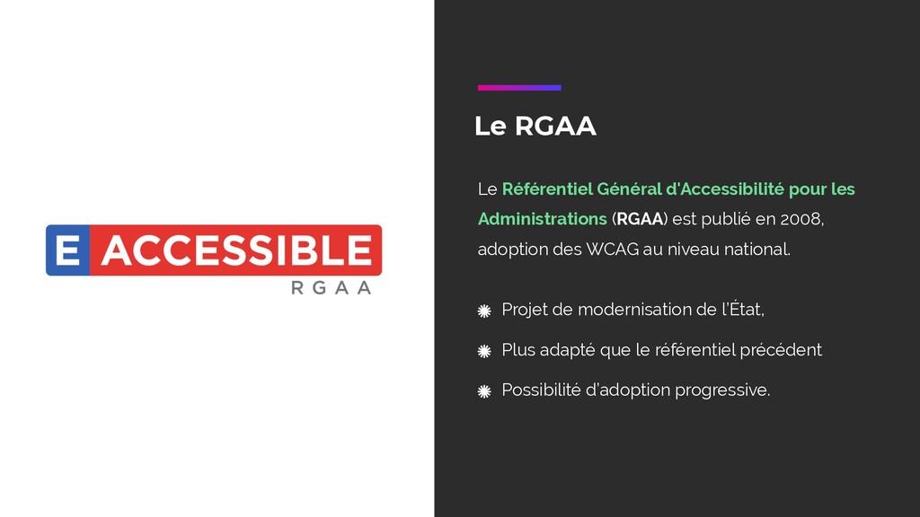 Le RGAA Le Référentiel Général d'Accessibilité ...