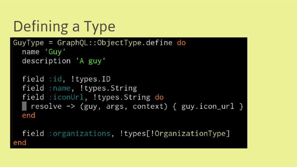 Defining a Type