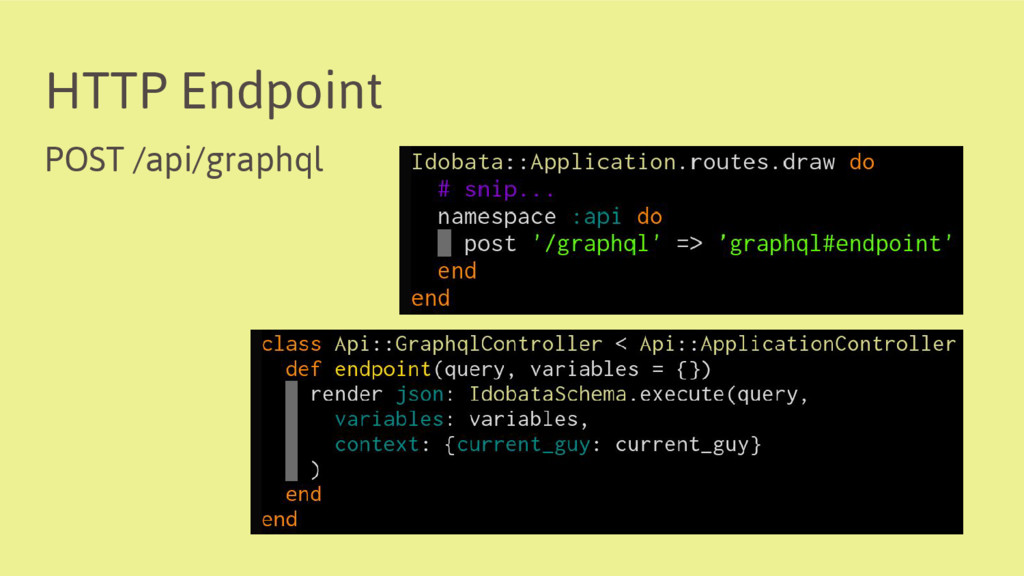 HTTP Endpoint POST /api/graphql