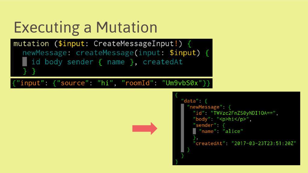 Executing a Mutation