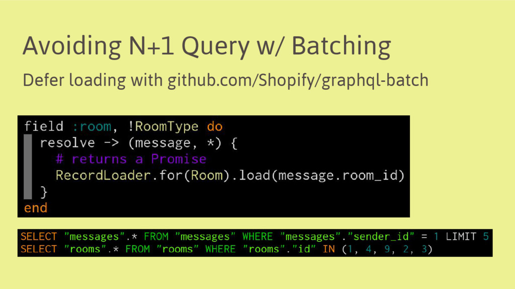 Avoiding N+1 Query w/ Batching Defer loading wi...