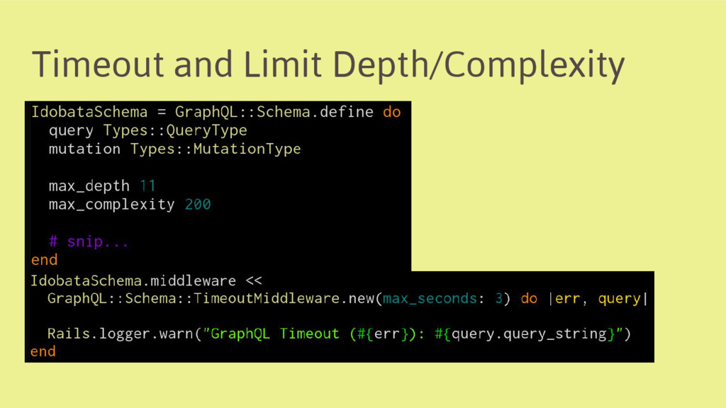 Timeout and Limit Depth/Complexity