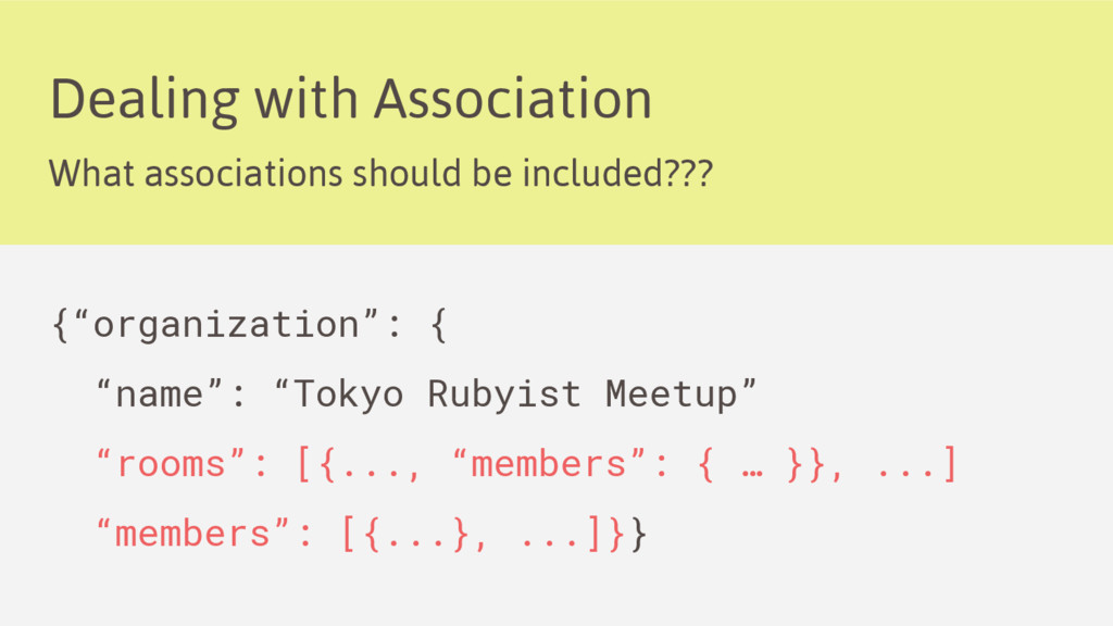 Dealing with Association What associations shou...