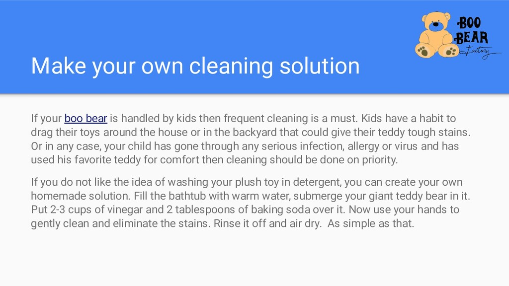 Make your own cleaning solution If your boo bea...