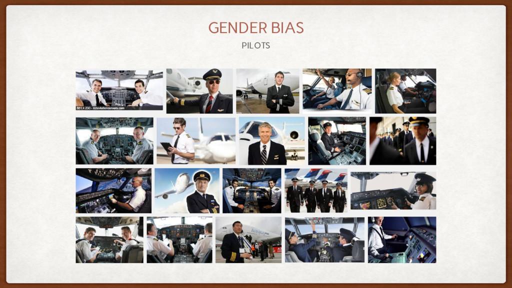 PILOTS GENDER BIAS