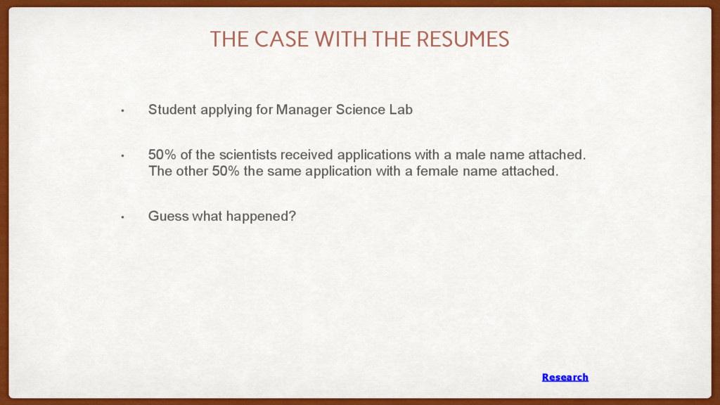 THE CASE WITH THE RESUMES • Student applying fo...
