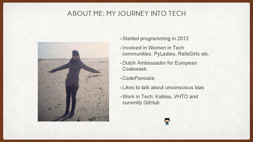 ABOUT ME: MY JOURNEY INTO TECH • Started progra...