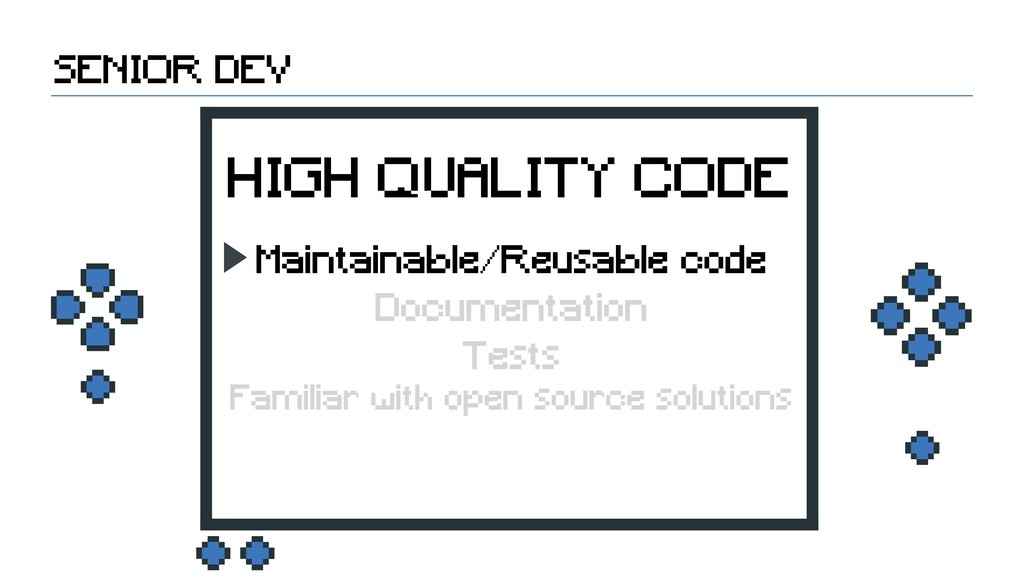 SENIOR DEV HIGH QUALITY CODE Maintainable/Reusa...