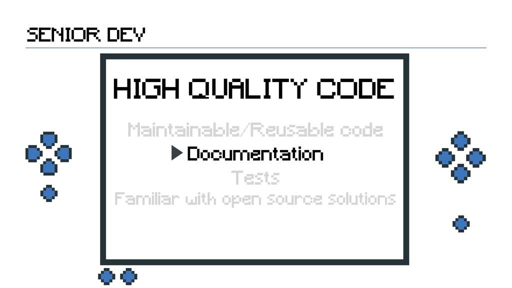 Documentation SENIOR DEV HIGH QUALITY CODE Main...