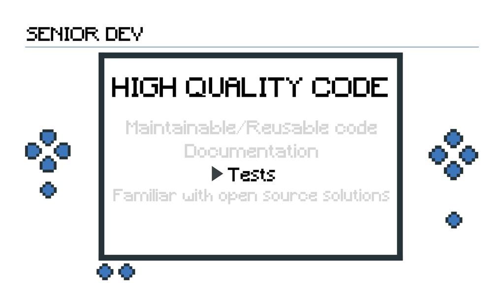 Tests Documentation SENIOR DEV HIGH QUALITY COD...