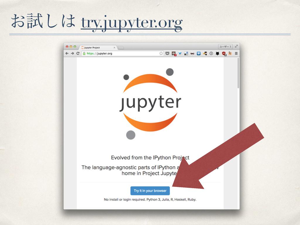 ͓ࢼ͠ try.jupyter.org
