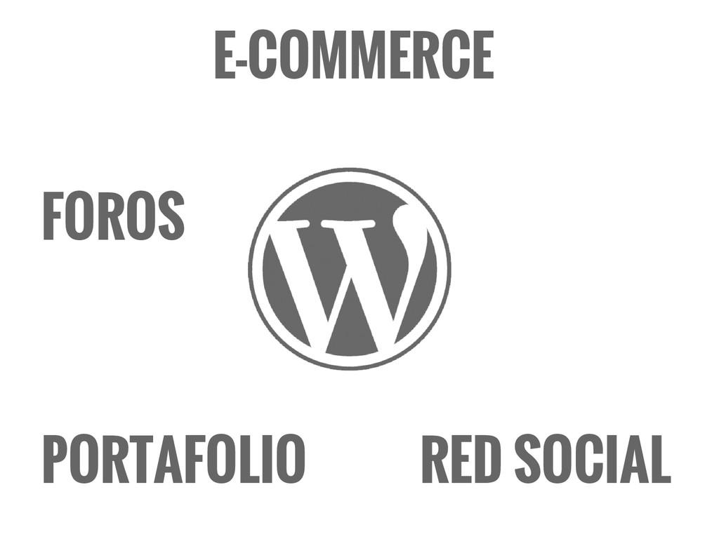 FOROS E-COMMERCE RED SOCIAL PORTAFOLIO