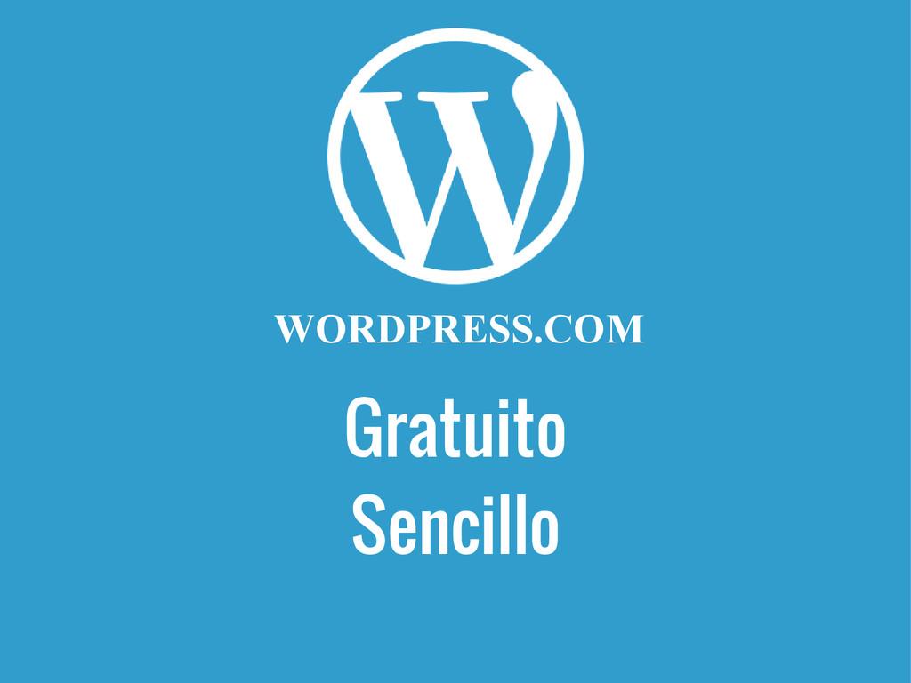 Gratuito WORDPRESS.COM Sencillo