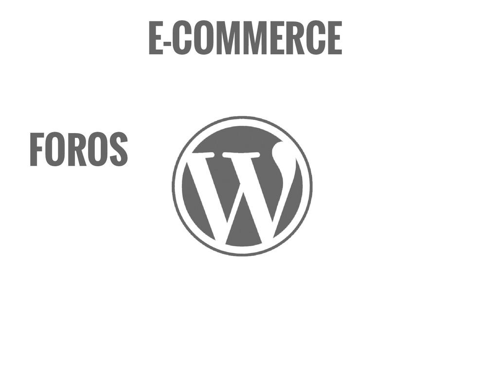 FOROS E-COMMERCE