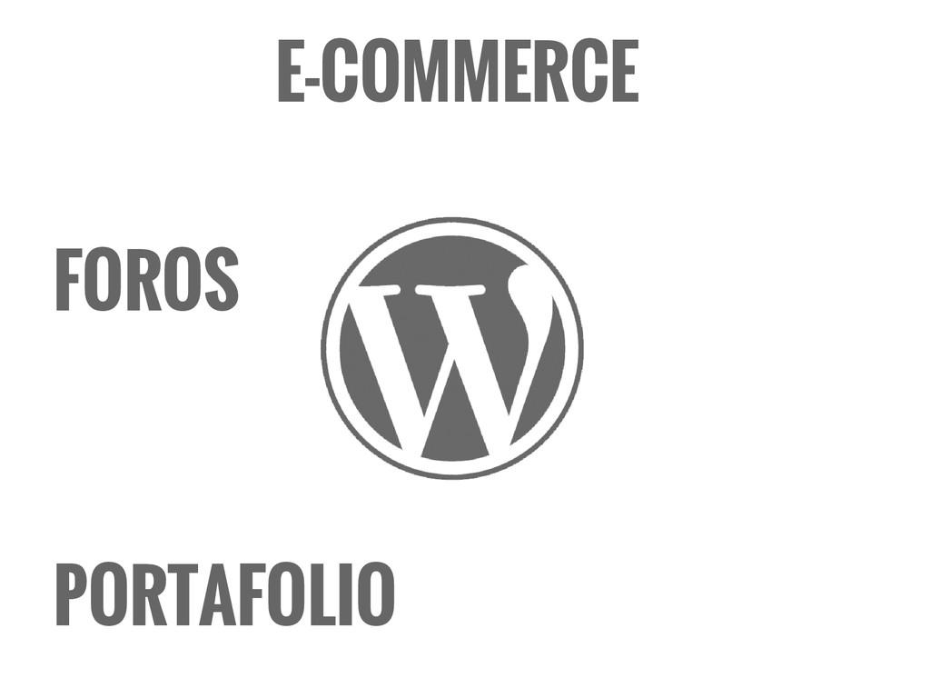 FOROS E-COMMERCE PORTAFOLIO