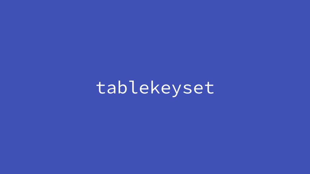 tablekeyset