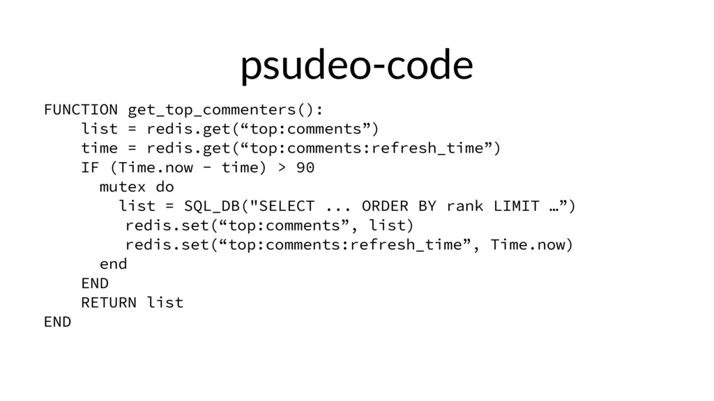 psudeo-code FUNCTION get_top_commenters(): list...