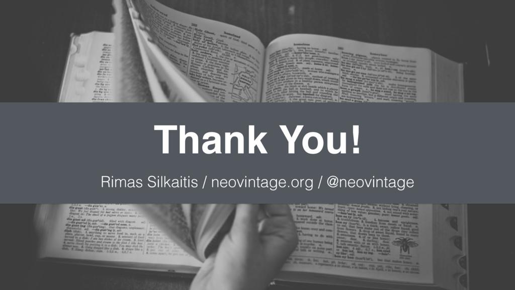 Thank You! Rimas Silkaitis / neovintage.org / @...