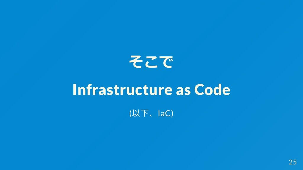 そこで Infrastructure as Code (以下、IaC) 25