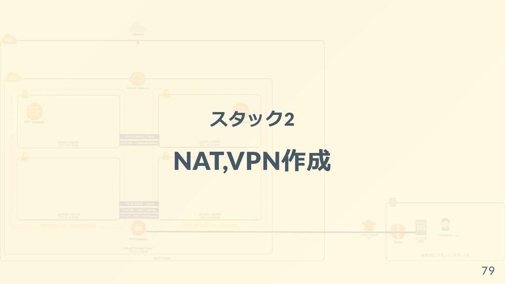 スタック2 NAT,VPN作成 79