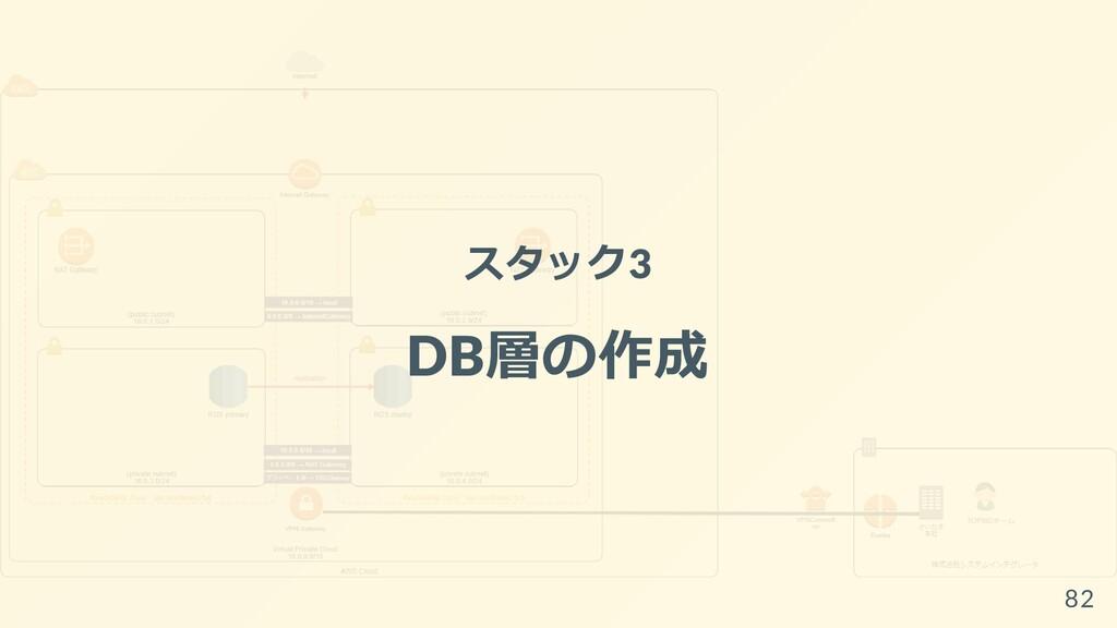 スタック3 DB層の作成 82